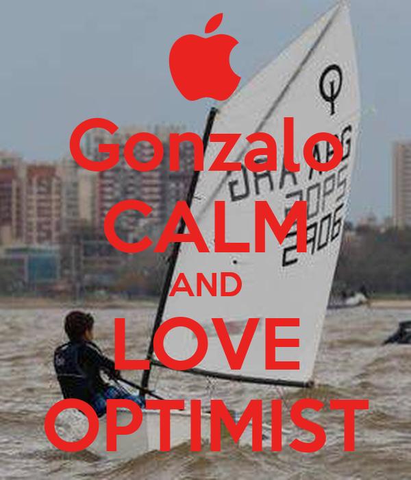 Gonzalo CALM AND LOVE OPTIMIST