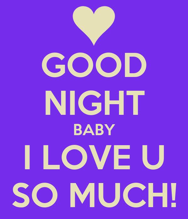 Good Night Baby I Love U So Much Poster Gabriel Keep Calm O Matic
