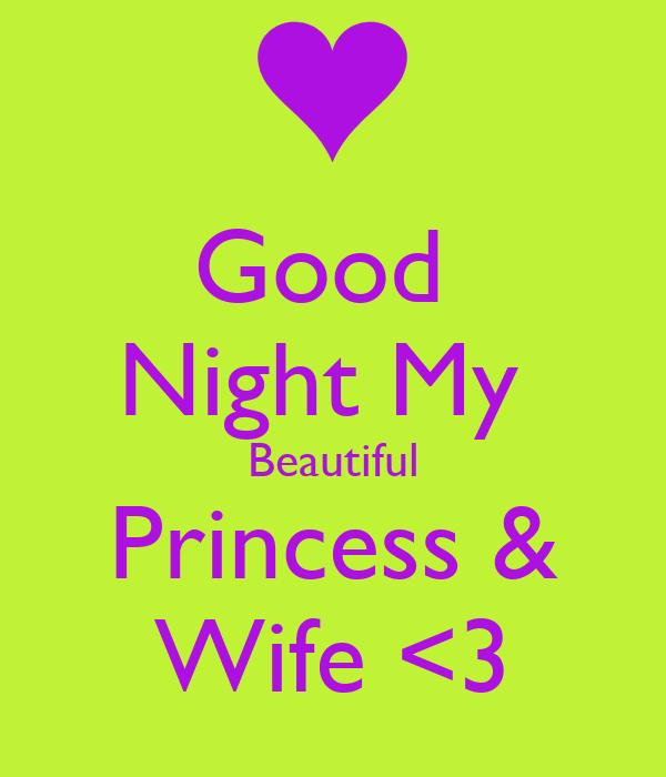 Good  Night My  Beautiful Princess & Wife <3