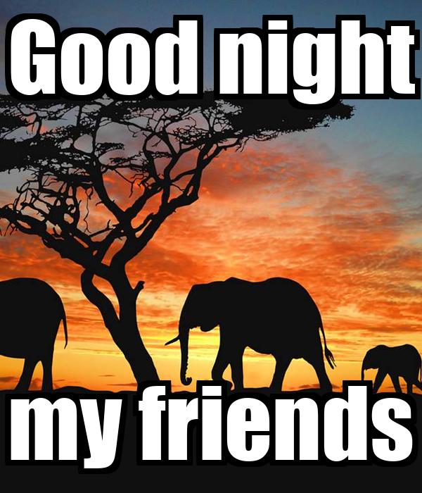 Good night my friends