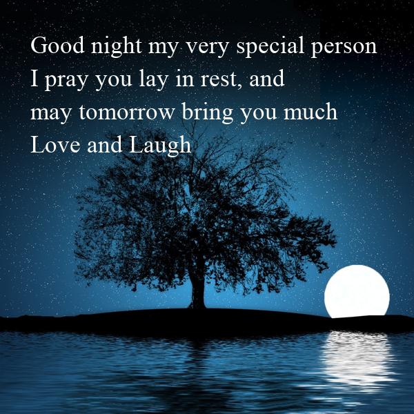 Special Person Quotes: Good Night My Very Special Person I Pray You Lay In Rest