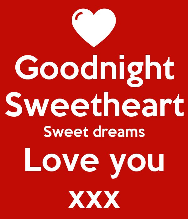 Goodnight Sweetheart Sweet Dreams Love You Xxx Poster Radjen
