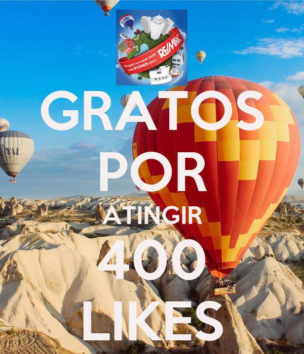 GRATOS POR ATINGIR 400 LIKES
