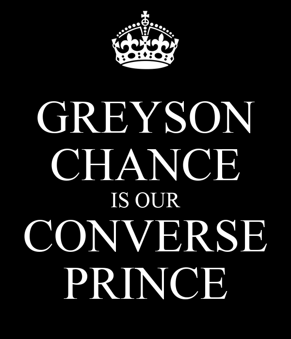 GREYSON CHANCE IS OUR CONVERSE PRINCE