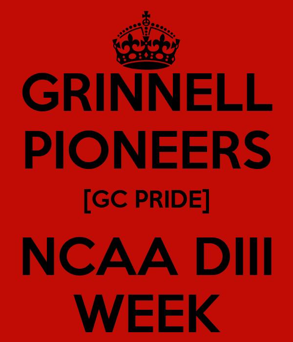 GRINNELL PIONEERS [GC PRIDE] NCAA DIII WEEK