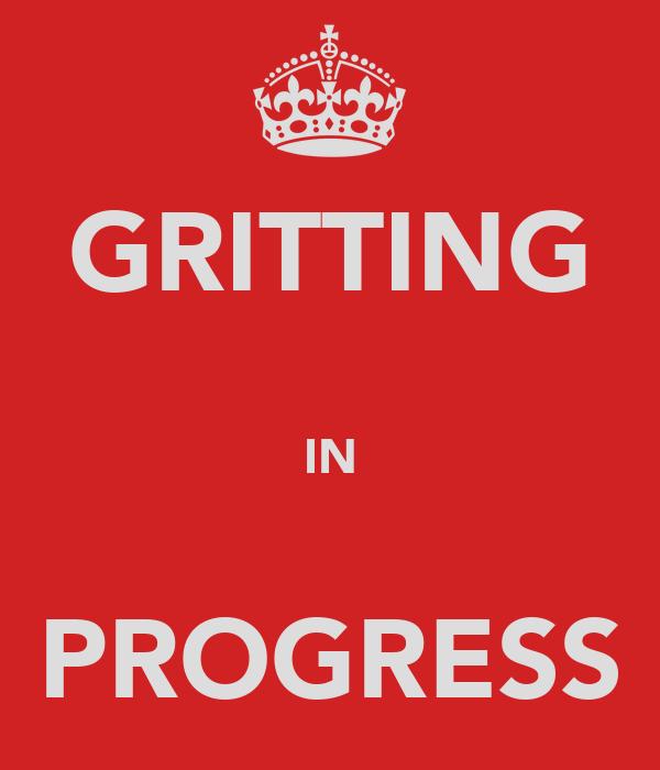 GRITTING  IN  PROGRESS