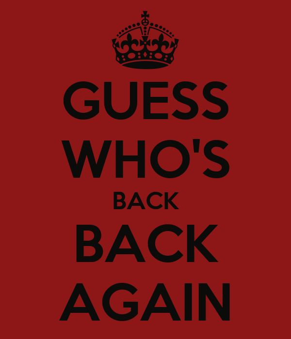 GUESS WHO'S BACK BACK AGAIN Poster | EMINEM | Keep Calm-o ...