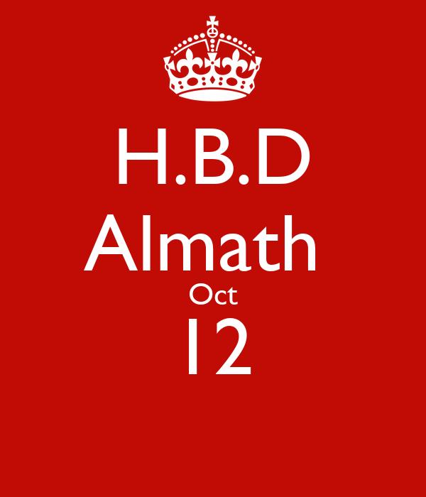 H.B.D  Almath  Oct 12