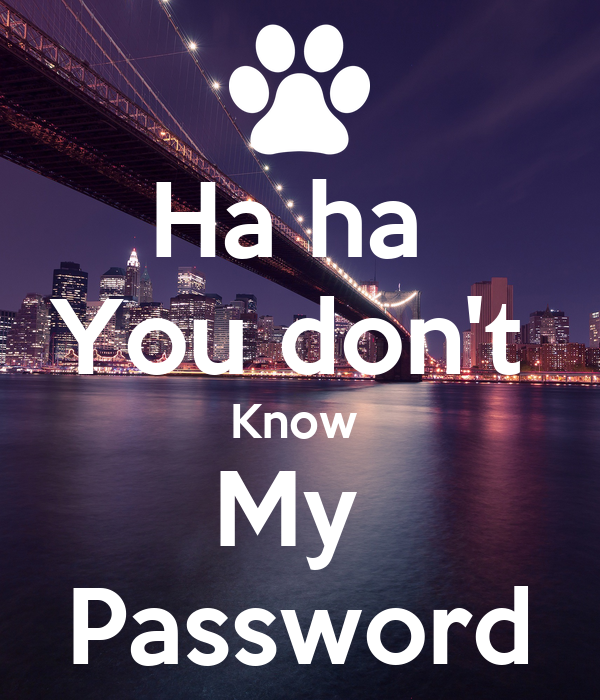 Ha ha You don t Know My Password Poster Brandi