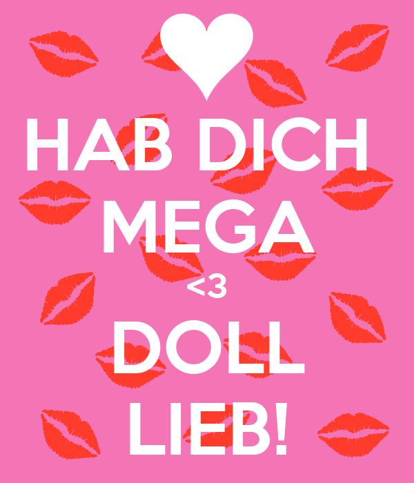 Hab Dich Mega 3 Doll Lieb Poster Vali Keep Calm O Matic