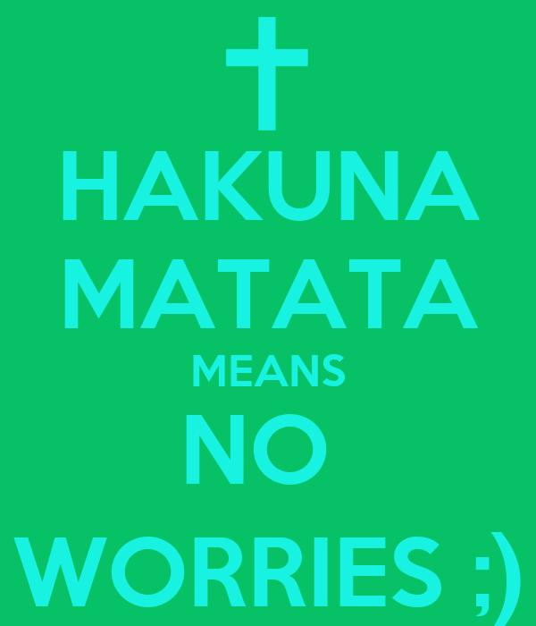Hakuna Matata Means No Worries Poster Tay Tay Keep Calm O Matic