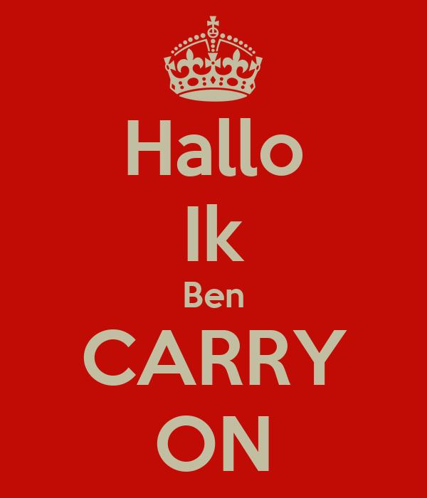 Hallo Ik Ben CARRY ON