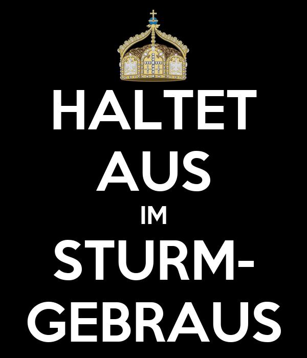HALTET AUS IM STURM- GEBRAUS