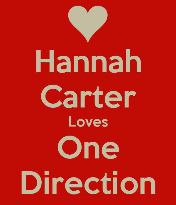 Hannah Carter Loves One Direction