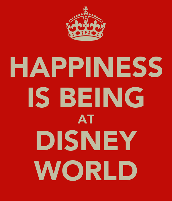 HAPPINESS IS BEING AT DISNEY WORLD