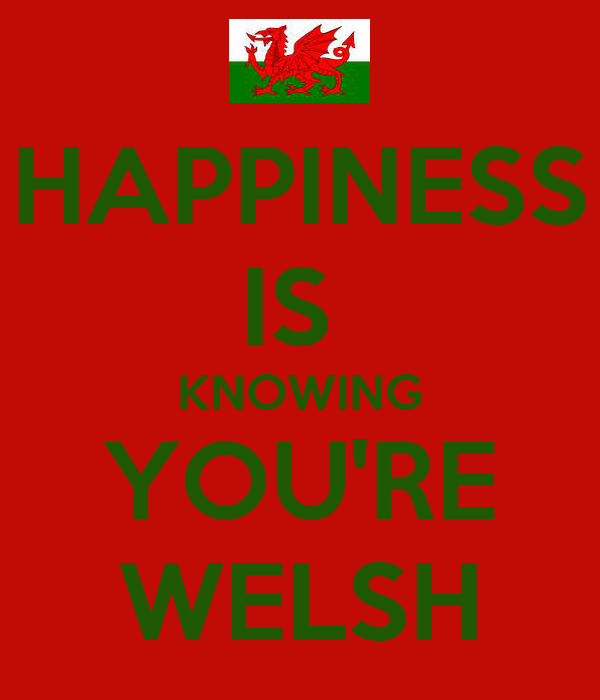 HAPPINESS IS  KNOWING YOU'RE WELSH