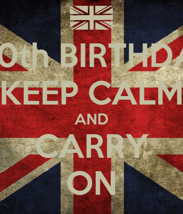 HAPPY 10th BIRTHDAY CATE KEEP CALM AND CARRY ON