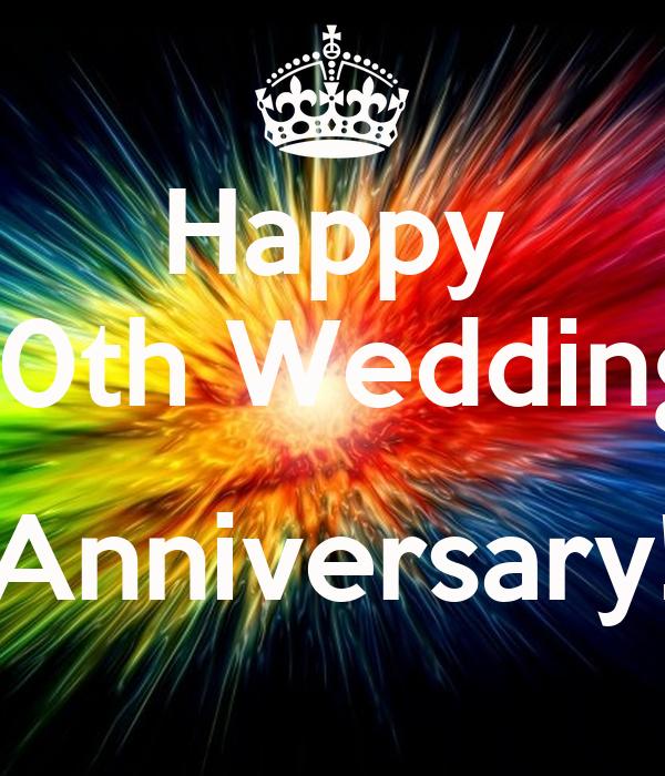 Happy th wedding anniversary poster linda keep calm