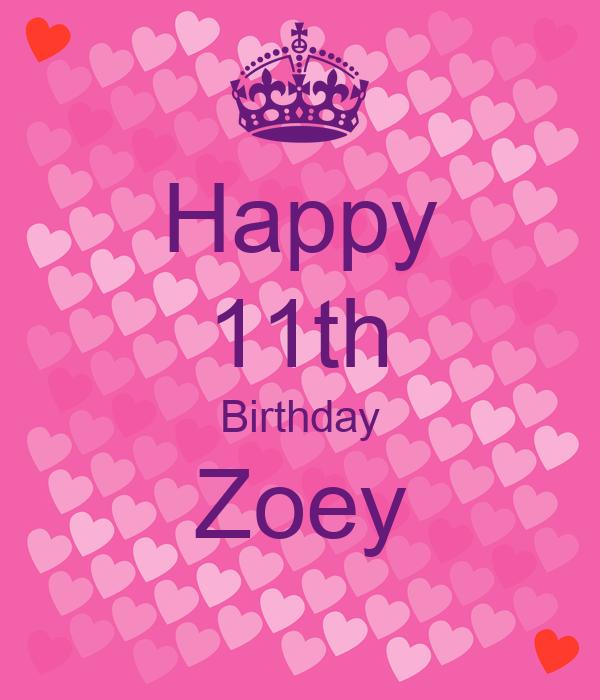 Happy 11th Birthday Zoey