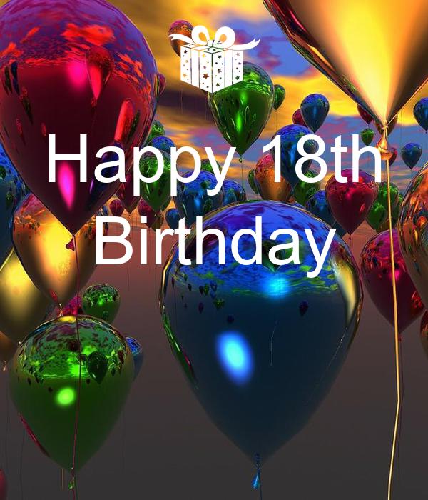 Happy 18th Birthday Poster