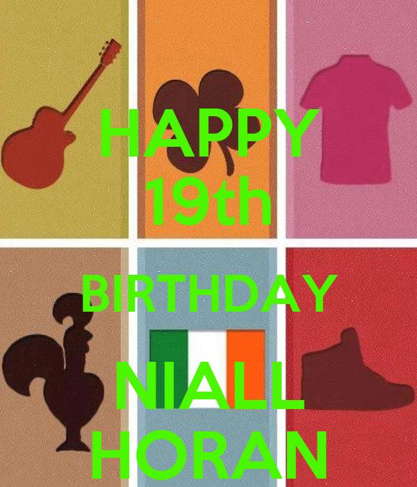 HAPPY 19th BIRTHDAY NIALL HORAN