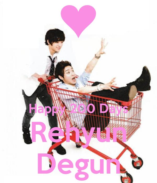 Happy 200 Days Rehyun Degun
