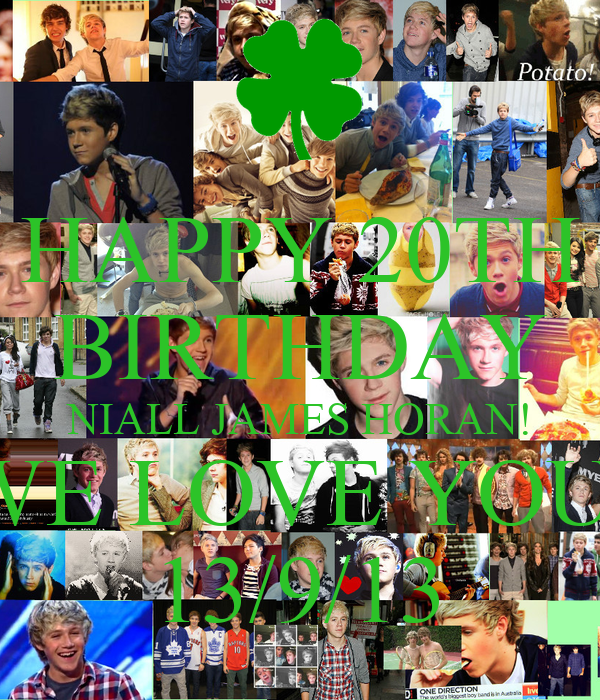 HAPPY 20TH BIRTHDAY NIALL JAMES HORAN! WE LOVE YOU! 13/9/13