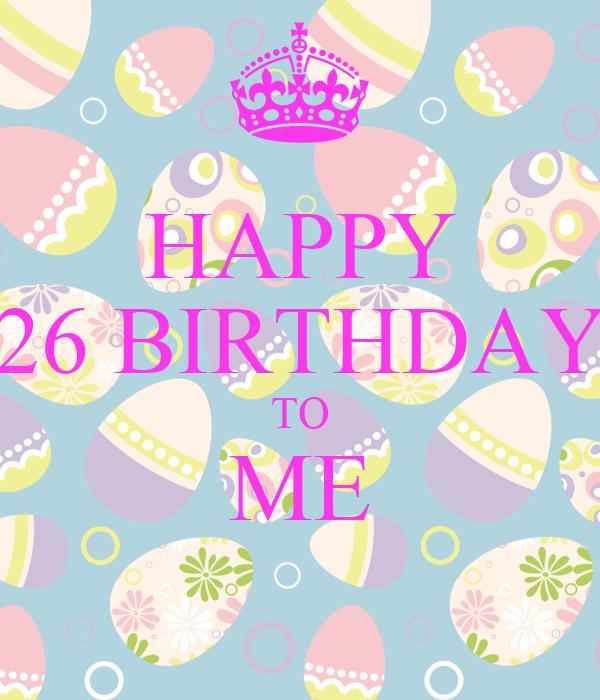 Поздравление в день рождения 26 лет