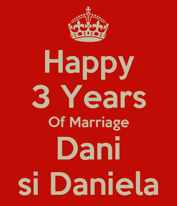 Happy 3 Years Of Marriage Dani si Daniela