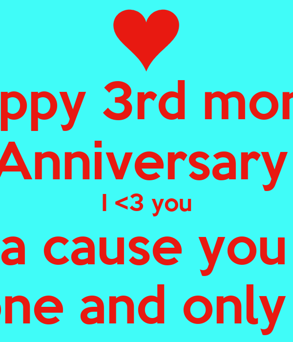 50+ Great Happy 3rd Month Anniversary Images - twistequill