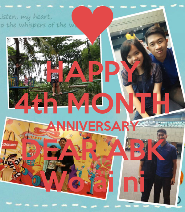 Happy th month anniversary dear abk wo �i ni poster