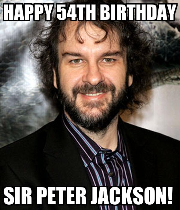 HAPPY 54TH BIRTHDAY SIR PETER JACKSON!