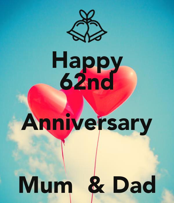 Happy 62nd Anniversary  Mum  & Dad
