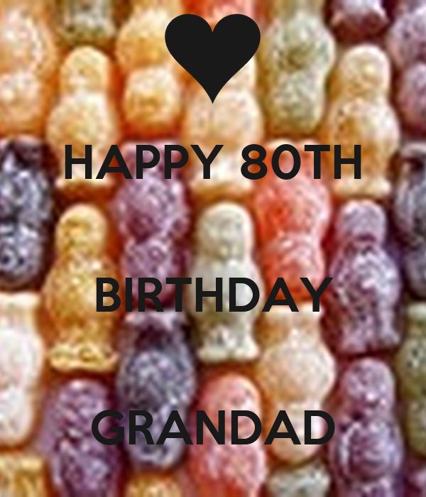 HAPPY 80TH  BIRTHDAY  GRANDAD