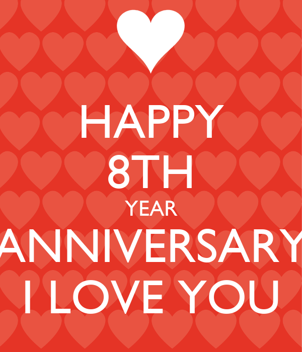 Happy th year anniversary i love you poster mc keep