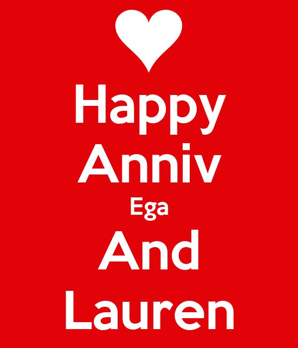 Happy Anniv Ega And Lauren