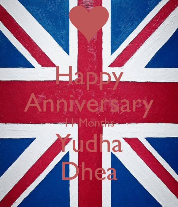 Happy Anniversary 11 Months Yudha Dhea