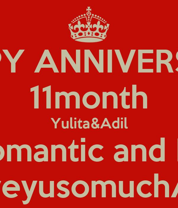 HAPPY ANNIVERSARY 11month Yulita&Adil Keep Romantic and Longlast LoveyusomuchAdil