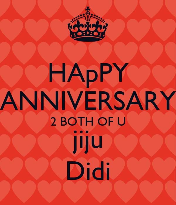 Happy anniversary both of u jiju didi poster bunty