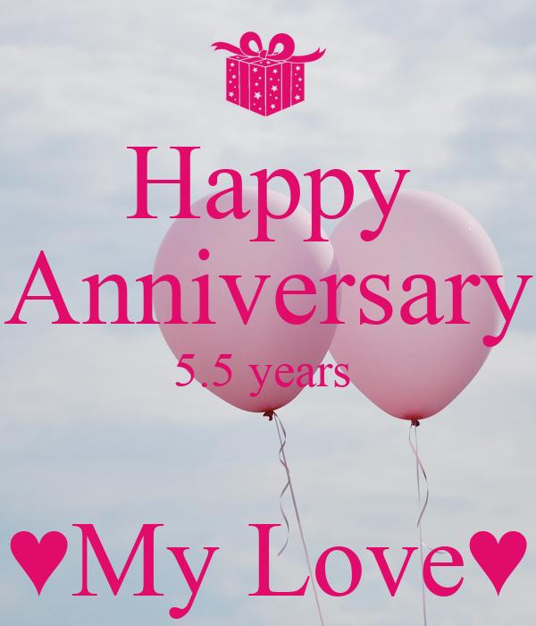 happy 5 year anniversary my love