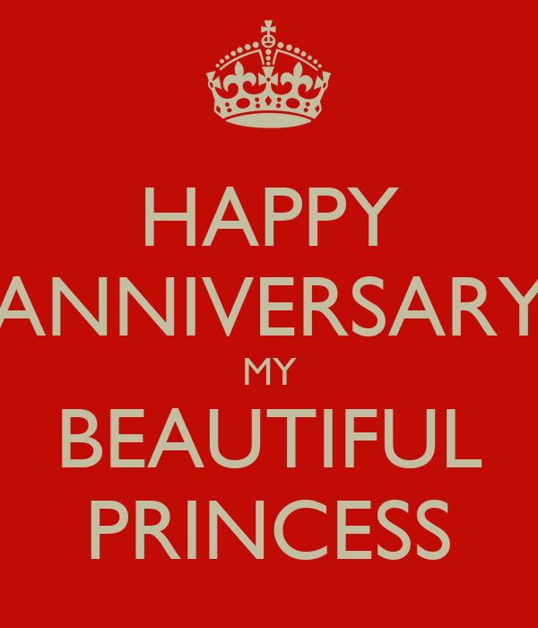 happy anniversary princess
