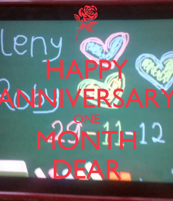 Happy anniversary one month dear poster robby keep