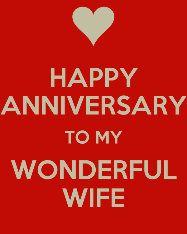 HAPPY ANNIVERSARY TO MY WONDERFUL WIFE Poster
