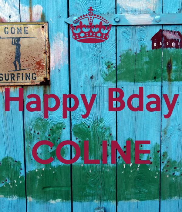 Happy Bday  COLINE