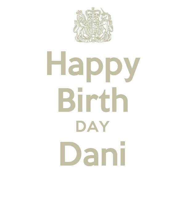 Happy Birth DAY Dani