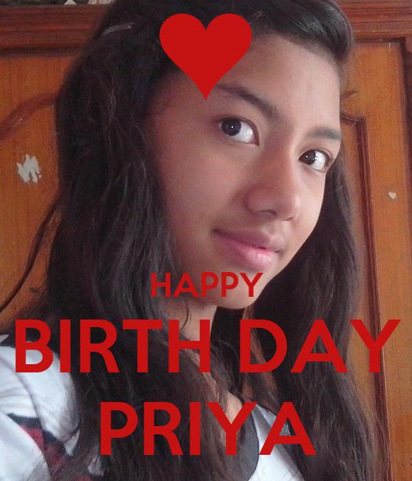 HAPPY BIRTH DAY PRIYA