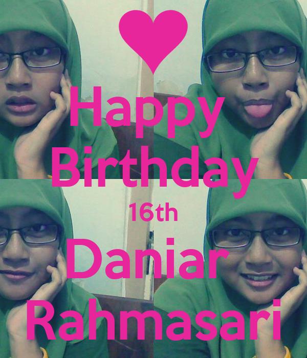 Happy  Birthday 16th Daniar  Rahmasari