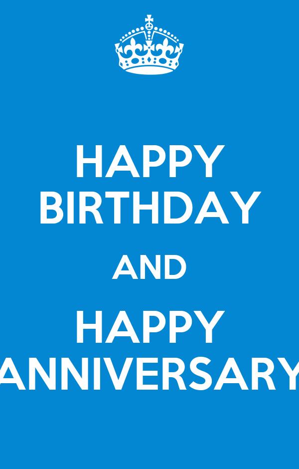 Happy Birthday And Happy Anniversary Poster Nanda Keep Calm O Matic