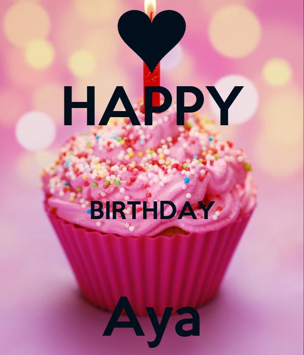 HAPPY  BIRTHDAY  Aya