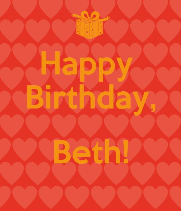 Happy  Birthday,  Beth!